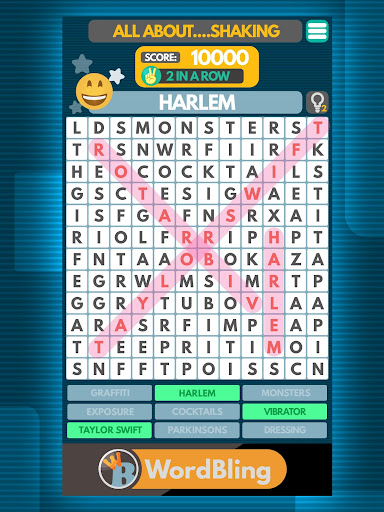 Word Bling: A funny offline word search game - screenshot