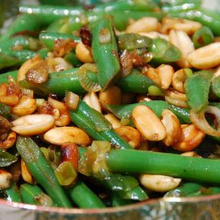 Green Beans With Peanuts & Chile de Arbol.