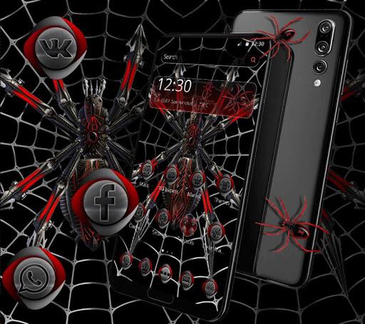 Download Dark Black Metal Spider Theme on PC & Mac with