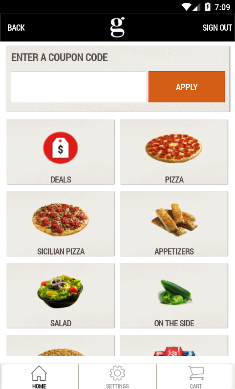 Gattis Pizza- screenshot
