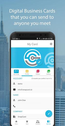 SnapCard - Digital Business Card 1.1.1 screenshots 1