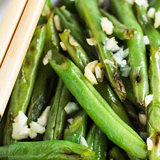 Simple Skillet Garlic Green Beans.