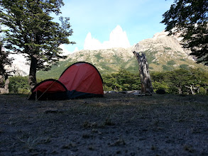 Photo: My tent with view of Fitz Roy, I camped alone