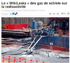 Photo: RADIOACTIVITE. Enquète du New York Times (Rue 89). ARTICLE:  http://www.rue89.com/planete89/2011/03/02/le-wikileaks-des-gaz-de-schiste-la-radioactivite-192960