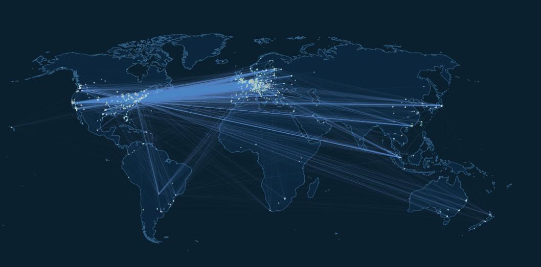 Визуализация Lightning Network