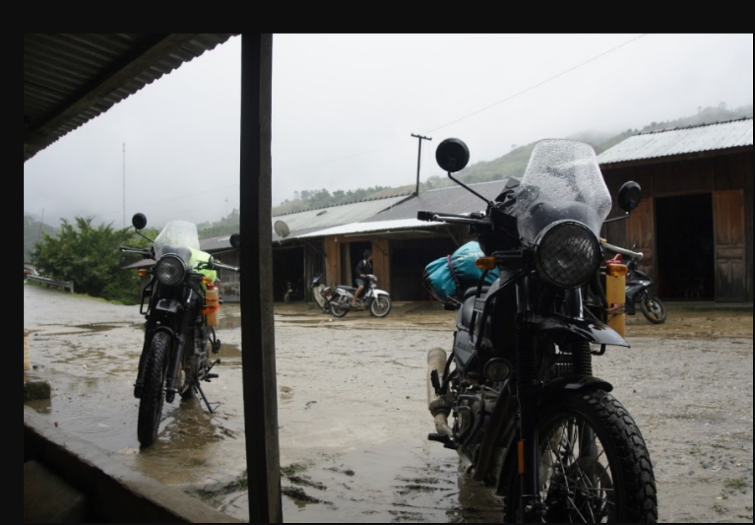 a rainy day to go on a motorbike tour in Vietnam