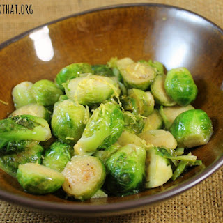 Browned Butter and Lemon Brussels Sprouts Recipe