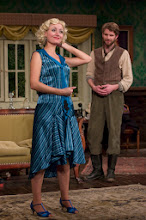 "Photo: Amy Rutberg* as ""Sylvia"" and Daniel Bielinski* as ""Richard"" in APAC's production of Sandy Rustin's ""The Cottage"" directed by Adam Dannheisser. Photo by Michael R. Dekker"