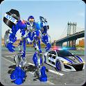 US Police Car Real Robot Transform: Robot Car Game icon