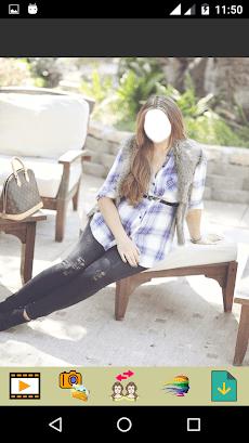 Girls Jeans Fashion Selfieのおすすめ画像4