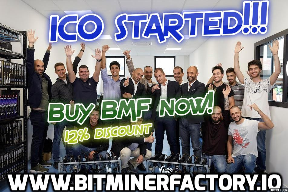 Bitminer Factory - token sale goes live, BMF are coming to your Wallet!