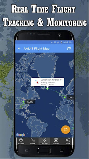 Air Traffic Map Live.Download Live Flight Tracker Radar Air Traffic Status Google Play