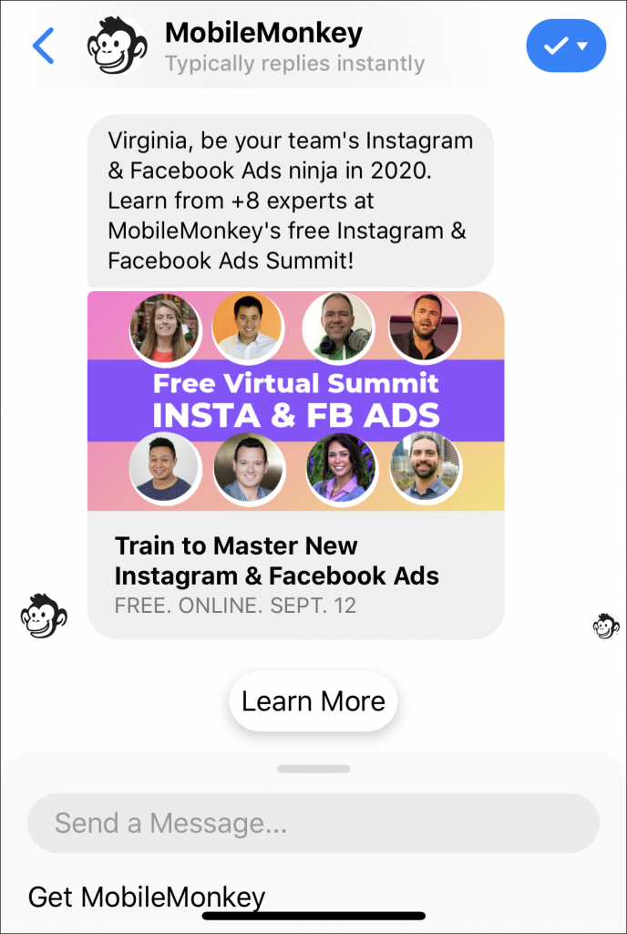 Facebook sponsored messages