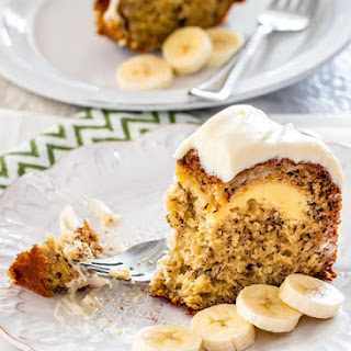 Cream Cheese Filled Banana Cake Recipe