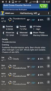 WDAM 7 Hattiesburg Weather - screenshot thumbnail