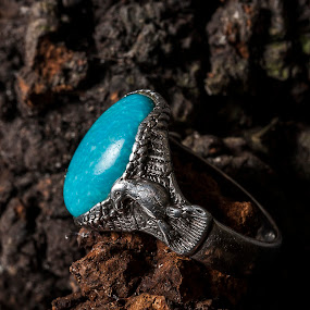 Blue Eagle by Russell Mander - Artistic Objects Jewelry ( native american, torquoise, ring, silver )