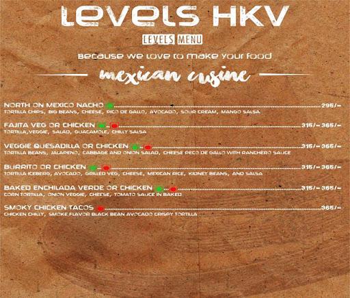 Menu 15 - Levels HKV, Hauz Khas Village, New Delhi