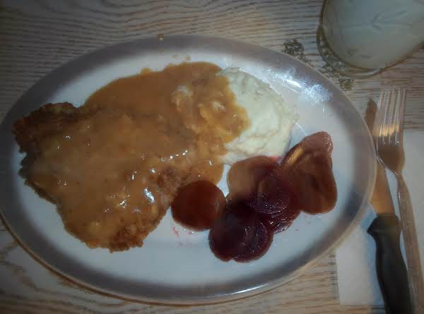 Country Fried Steak W/brown Onion Gravy