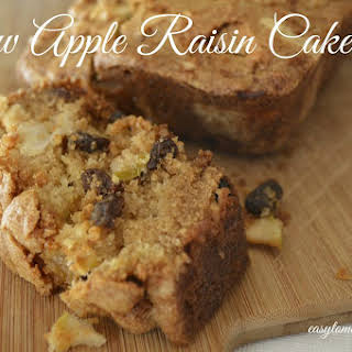 Raw Apple Raisin Cake.
