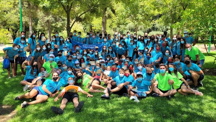 Participantes en el campamento de verano de Níjar.