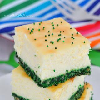 Green Velvet Cheesecake Bars