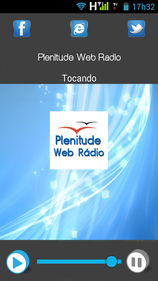 Plenitude Web Rádio: captura de tela