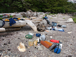 Photo: My campsite on Kanagunut Island at the southern end of Lincoln Channel. Back in the US.