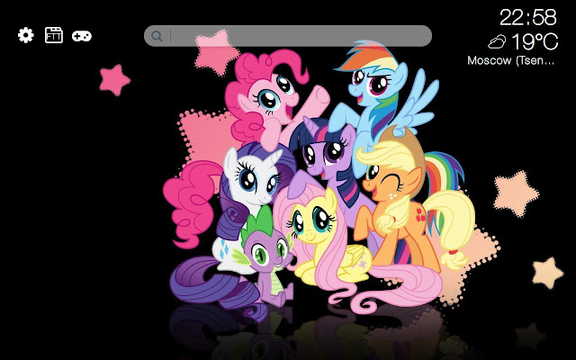 My Little Pony HD new free tab theme