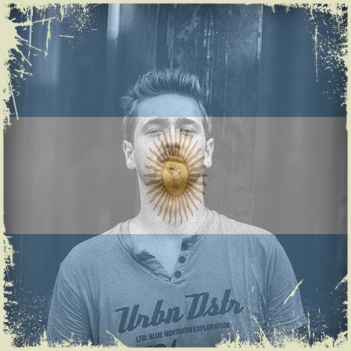 Argentina Flag On Face Maker : Photo Editor