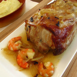Pork Tenderloin with Shrimp and Mashed Potato Recipe