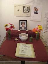 Photo: ナナオの2日前に亡くなった大築準さんの遺影