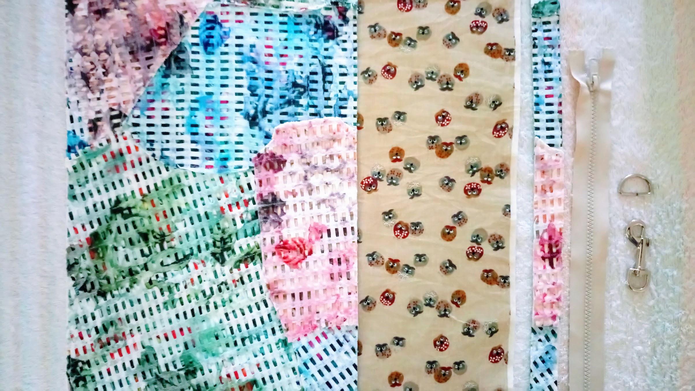 Materials: DIY Fabric Collage Tetrahedron Bag - DIY Fashion Accessories   fafafoom.com