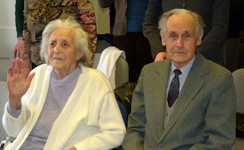 Photo: Nyugdíjas lelkipásztorunk, Korvin János feleségével, Katalinnal egy 2012 februári Istentiszteleten