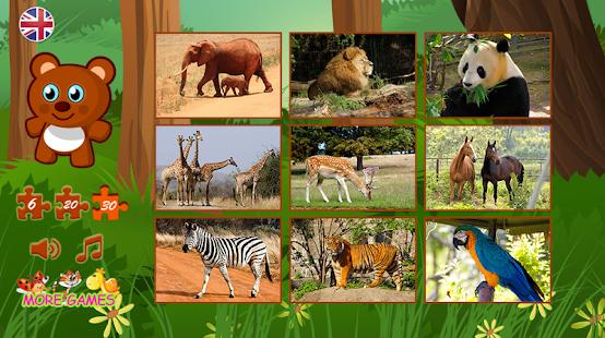 Puzzle zvířata - náhled