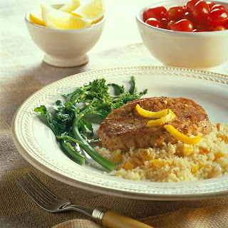 Moroccan-Seasoned Chops with Fruited Couscous.
