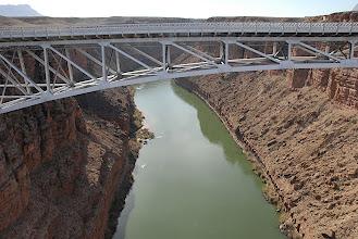 Photo: Navajo Bridge over the river near Lee's Ferry