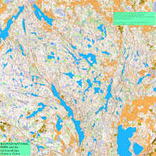 Photo: Nuuksio national park, 225 sq. km (converted a low resolution image, just 4.5% of the original size)