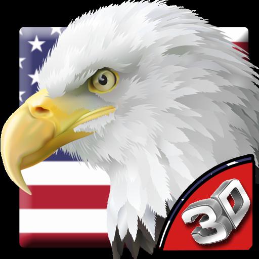 3D American Eagle Soar Theme