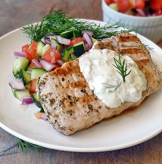 Greek Style Pork Chops Recipe