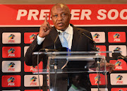 Premier Soccer League chairman Irvin Khoza addresses a press conference at the League's headquarters in Parktown. Khoza could not confirm the news as his phone was off.