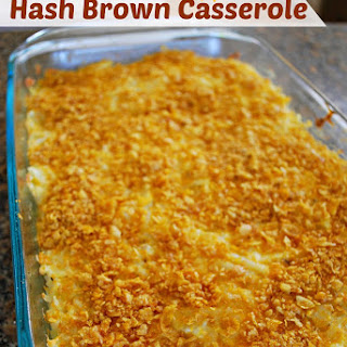 Corn Flake Topped Hash Brown Casserole – Food Fun Friday.