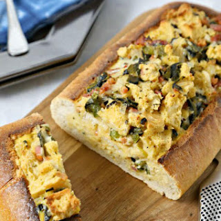 Chile Relleno Style Eggs in Ciabatta