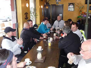 Photo: koffiepauze te Leopoldsburg