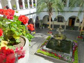 Photo: View down into a courtyard