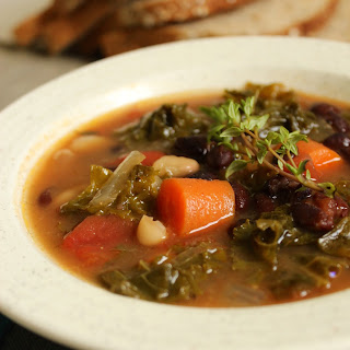 Crockpot Kale Vegetable Soup.