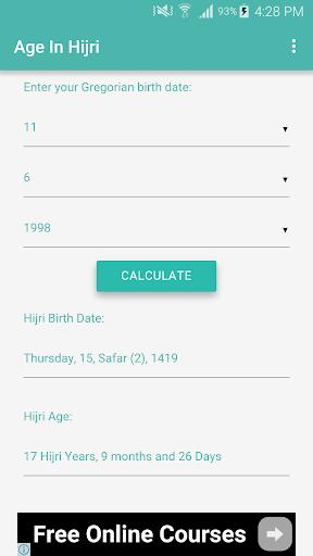 Age In Hijri