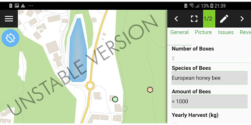 QField for QGIS - لقطات شاشة غير مستقرة 1