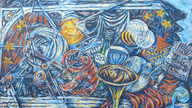 "Photo: East Side Gallery;  Peter Russell ""Himmel und Sucher"""