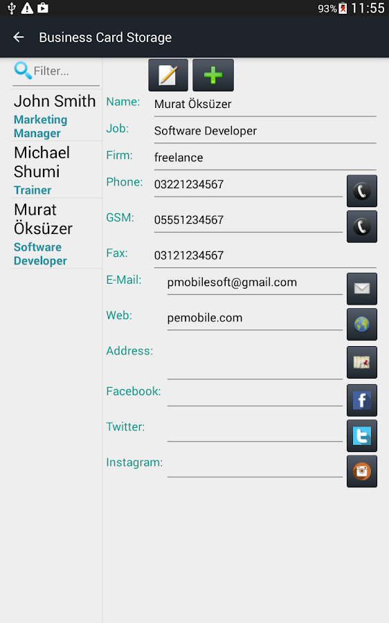 Business Card Storage - Android Apps on Google Play