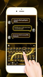 Black Gold Keyboard 1.0 Mod + Data for Android 1